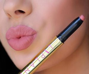 lips, lipstick, and pink image