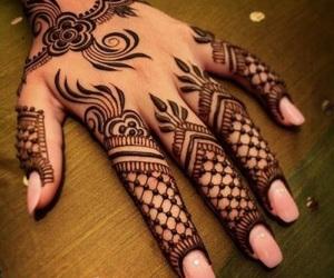 henna, beautiful, and mehndi image