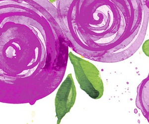 facebook, floral, and watercolor image