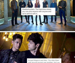 clary fray, clace, and alec and magnus image