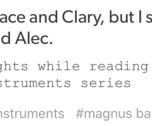 clary fray, tmi, and alec lightwood image