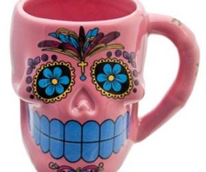 candy skull, dia de los muertos, and Halloween image