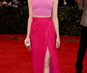 emma stone, pink, and dress image