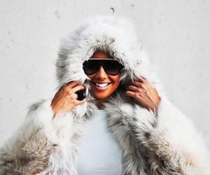 Amber Rose, fashion, and fur image
