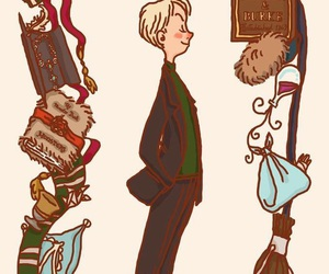 harry potter, draco malfoy, and art image