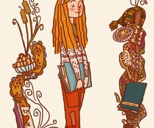 harry potter, art, and ginny weasley image
