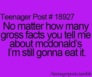 McDonalds, teenager post, and funny image