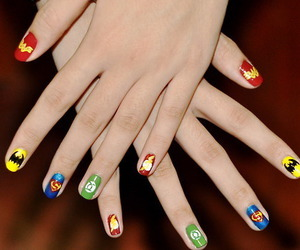 nails, superman, and batman image
