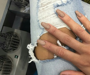 nails, beauty, and jeans image