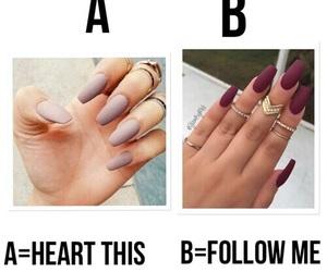nails, heart, and follow image
