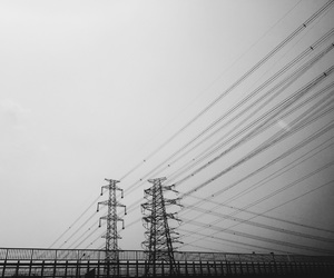 black and white, line, and urban exploration image