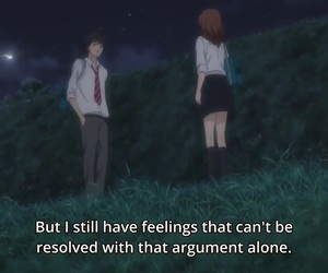 anime, feelings, and quote image