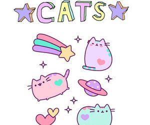 cat, pusheen, and pastel image