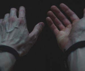 hands, grunge, and veins image