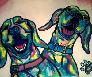 animals, art, and beagles image