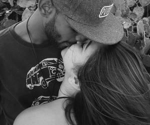 boy and girl, hug, and kiss image