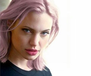 Angelina Jolie, hair, and pink image