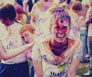 color, fun, and girl image