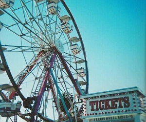 ferris wheel, fun, and summer image