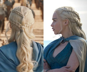 braid, game of thrones, and hairstyle image
