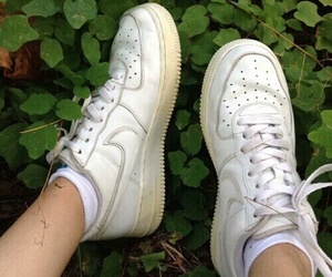 plants, nike, and pale image