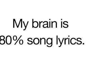 song, Lyrics, and brain image