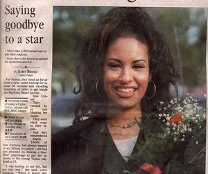 selena, selena quintanilla, and newspaper image