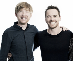 frank, michael fassbender, and domhnall gleeson image