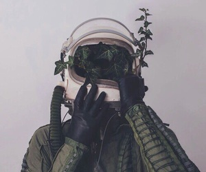 green, astronaut, and wallpaper image