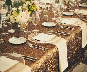gold, wedding day, and party image