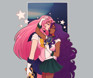 sailor moon, ship, and crossover image