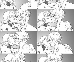 ladybug, Chat Noir, and kiss image