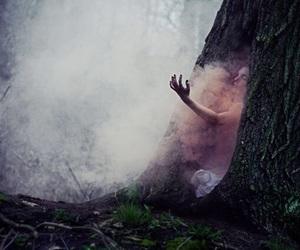girl, hand, and smoke image