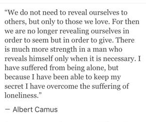 albert camus, alone, and beautiful image