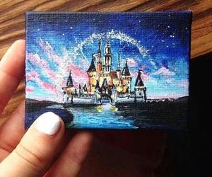 disney, art, and castle image