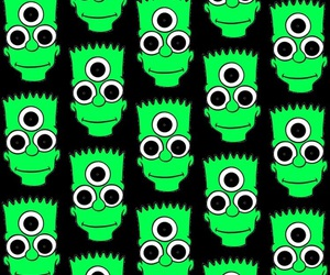background, bart simpson, and green image