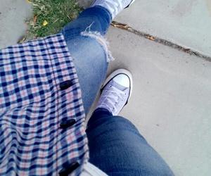 converse, girl, and moda image