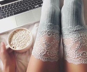 laptops, marshmallows, and hot chocolate image