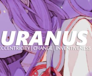 anime, purple hair, and hiiragi mahiru image