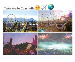 coachella, fun, and festival image