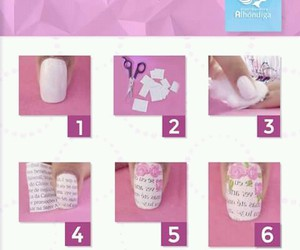 dyi, nails, and pink image