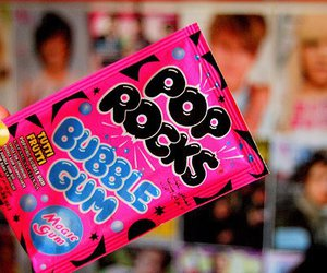 pop rocks, pink, and bubble gum image