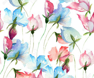 flower, sweet pea, and tattoo image