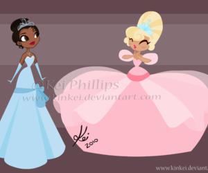 tiana, charlotte, and disney image