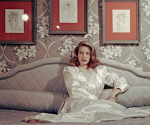 hollywood, Lauren Bacall, and vintage image