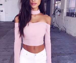 pink, clothes, and girl image