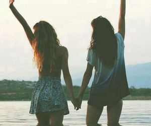 friends, girl, and summer image