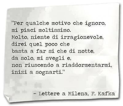 Lettera A Milena F Kafka On We Heart It