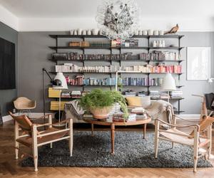 book shelf, decoration, and interior image