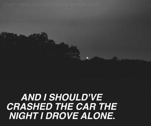 black and white, grunge, and sadness image